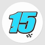 Number 15 - Sticker