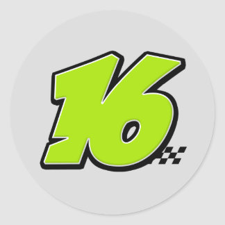 Number 16 - Sticker