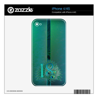 Number  17 / age / years / 17th birthday template iPhone 4 decal