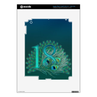 Number  17 / age / years / 17th birthday template skin for iPad 3