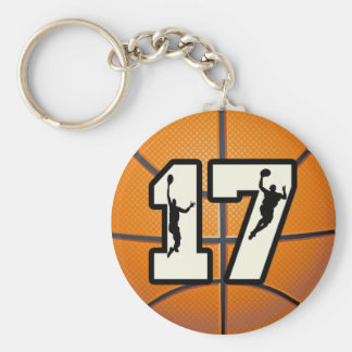 Number 17 Basketball and Players Keychains