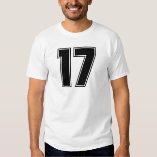 Number 17 front and backside print T-Shirt