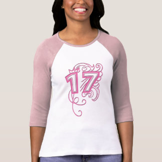 NUMBER 17 IN PINK T SHIRT