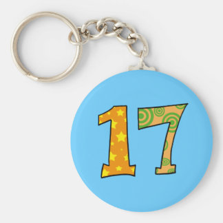 Number 17 key chains