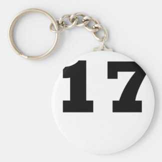 Number 17 keychain