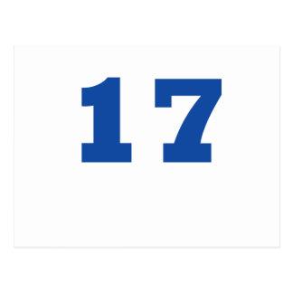 Number 17! postcard