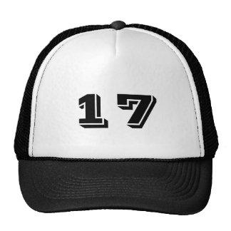 Number 17 trucker hat