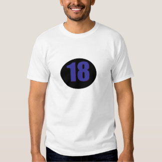 Number 18 t shirt
