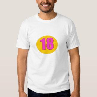 Number 18 tee shirt