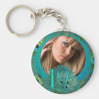 Number 19 / age / years / 19th birthday template keychain