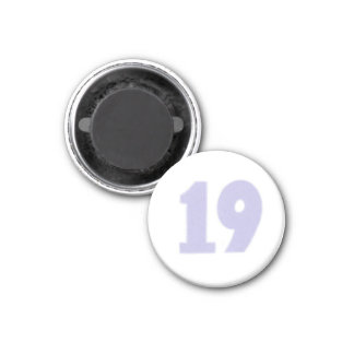 Number 19 in lavender on magnets