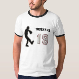 Number 19 Pitcher Uniform - Cool Baseball Stitches T-Shirt