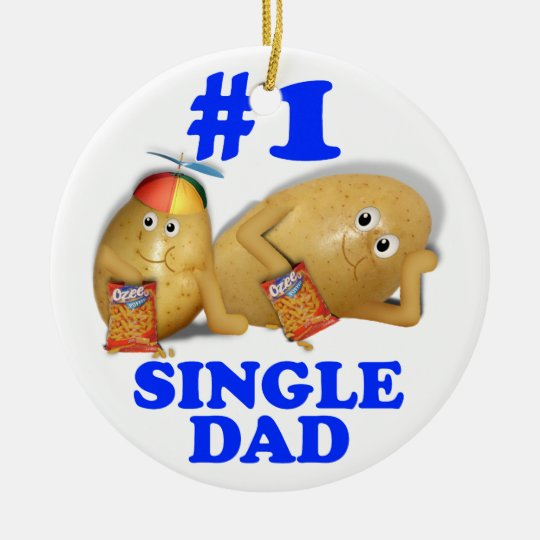 Number 1 (#1) Single Dad - Father & Son Potatoes Ceramic Ornament