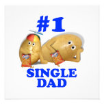 Number 1 (#1) Single Dad - Father & Son Potatoes Custom Invitations