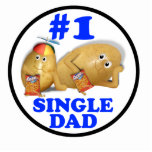 Number 1 (#1) Single Dad - Father & Son Potatoes Photo Sculpture
