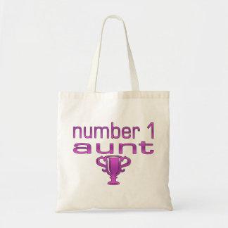 Number 1 Aunt Budget Tote Bag