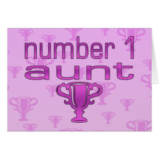 Number 1 Aunt Card