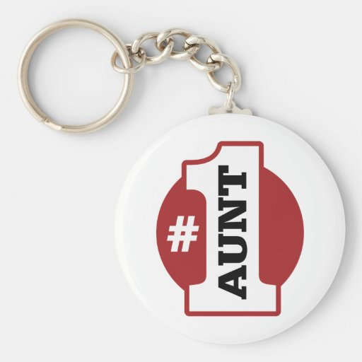 Number 1 Aunt Key Chains