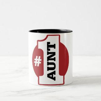 Number 1 Aunt Two-Tone Coffee Mug