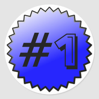 Number 1 Award Stickers