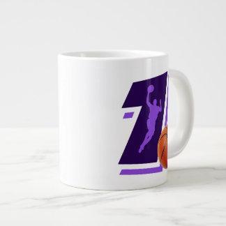 Number 1 Basketball and Player Giant Coffee Mug