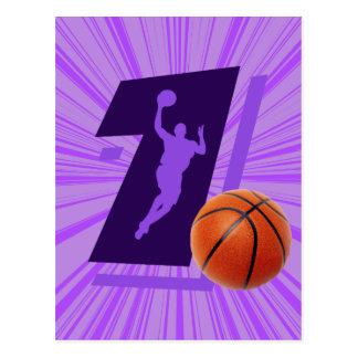 Number 1 Basketball and Player Postcard