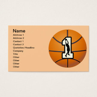 Number 1 Basketball and Players Business Card