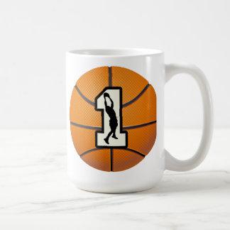 Number 1 Basketball and Players Coffee Mug