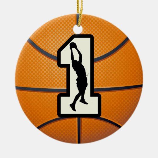 number 1 basketball ceramic ornament zazzle com