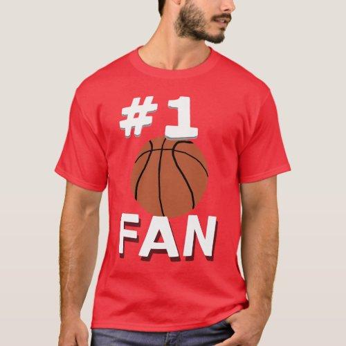 Number 1 Basketball Fan T-Shirt