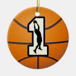 Number 1 Basketball Ornaments