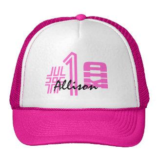 Number 1 Best Custom Name Pink Trucker Hat