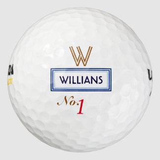 number 1 . best golfer monogram golf balls