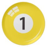 Number 1 billiard or pool ball novelty plate