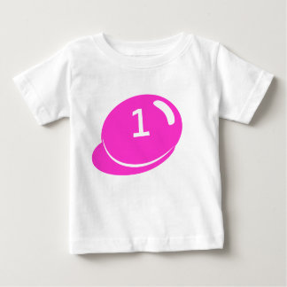 Number 1 birthday tee shirt for girls