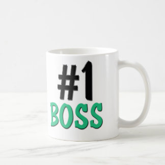 Number 1 Boss Classic White Coffee Mug