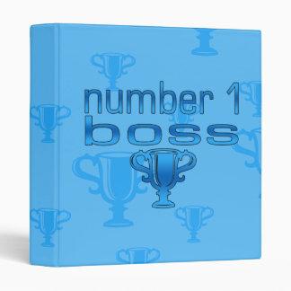 Number 1 Boss in Blue 3 Ring Binder