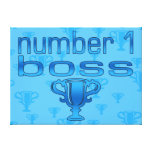Number 1 Boss in Blue Gallery Wrap Canvas