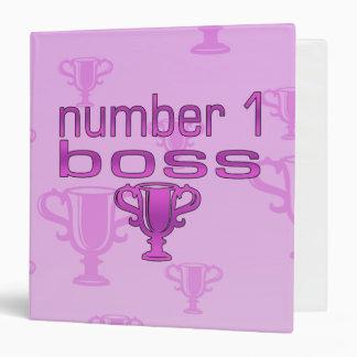 Number 1 Boss in Pink Binder