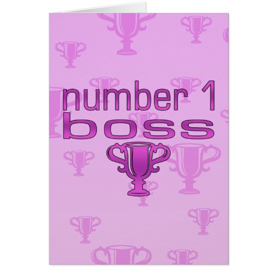 Number 1 Boss in Pink Card