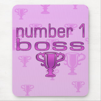 Number 1 Boss in Pink Mouse Pad