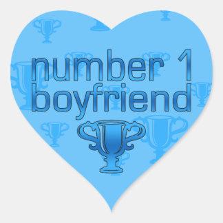 Number 1 Boyfriend Heart Sticker
