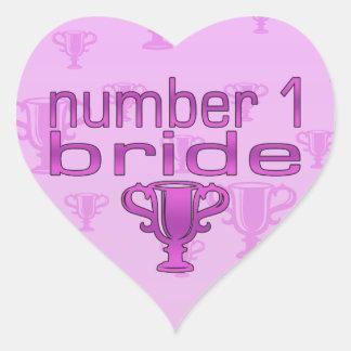Number 1 Bride Heart Sticker