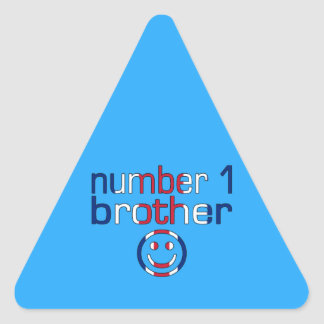 Number 1 Brother ( Brother's Birthday ) Triangle Sticker