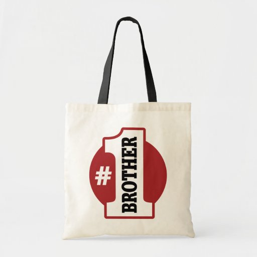 Number 1 Brother Budget Tote Bag