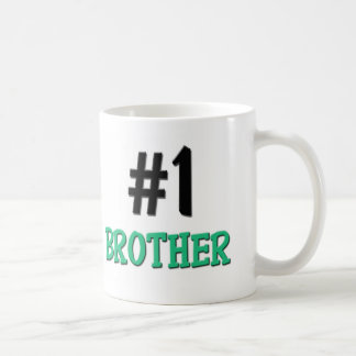 Number 1 Brother Classic White Coffee Mug