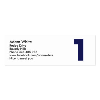 Number 1 business cards