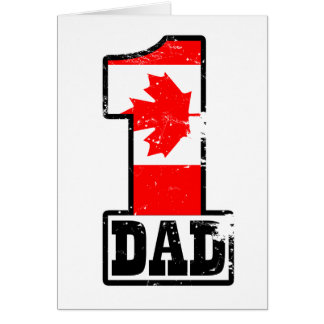Number 1 Canadian Dad Card