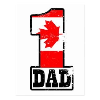 Number 1 Canadian Dad Postcard