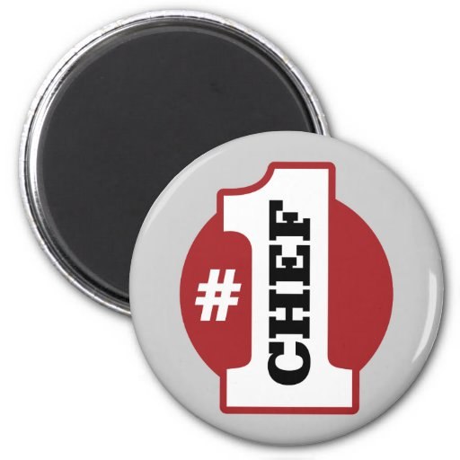 Number 1 Chef 2 Inch Round Magnet